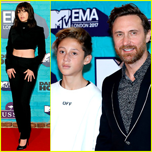 David Guetta & Charli XCX Hit MTV EMAs Red Carpet Before Performing Together!