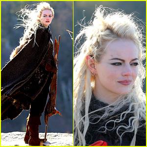 Emma Stone Is Basically the Female Legolas in These 'Maniac' Set Photos