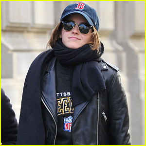 Emma Watson Tries to Keep a Low Profile While Out in Paris