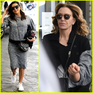 Eva Longoria Grabs Lunch with 'Desperate Housewives' Co-Star Felicity Huffman!