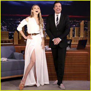 Gigi Hadid Eats Another Burger With Jimmy Fallon on 'Tonight Show'!