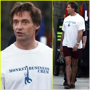 Hugh Jackman Rocks Short-Shorts on Set of 'The Front Runner'