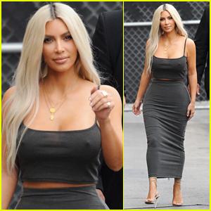 Kim Kardashian Flaunts Her Curves Arriving at 'Jimmy Kimmel' Appearance