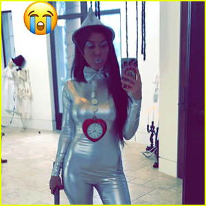Kourtney Kardashian Dresses as a Sexy Tin Man for Halloween