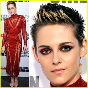 Kristen Stewart Matches Her Eye Makeup to Her Red Hot Dress