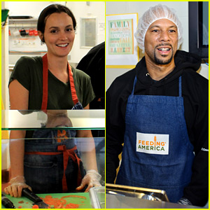 Leighton Meester, Common, & More Prep Thanksgiving Meals for Feeding America