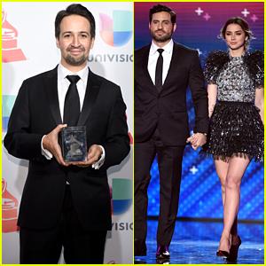 Lin-Manuel Miranda, Ana de Armas, & Edgar Ramirez Join Forces at Latin Grammys 2017!