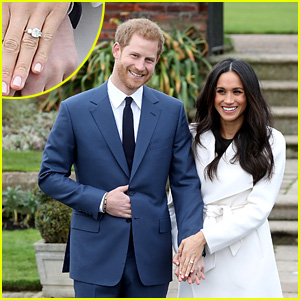 Meghan Markle Shows Off Engagement Ring in First Post-Engagement Appearance with Prince Harry!