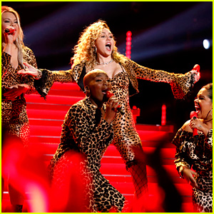 Miley Cyrus Channels Shania Twain in Leopard for 'Man! I Feel Like a Woman' Performance on 'The Voice' (Video)
