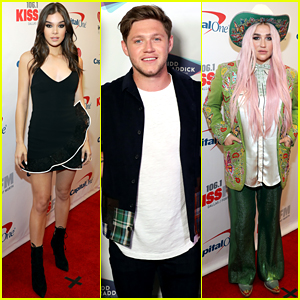 Niall Horan, Hailee Steinfeld, Kesha, & More Hit the Red Carpet at Kiss FM's Jingle Ball 2017