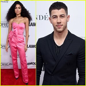 Nick Jonas & Zendaya Look Sharp at Glamour's Women of the Year Awards 2017