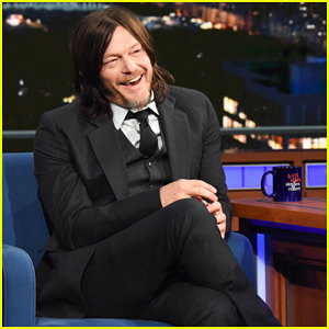 Norman Reedus Tells Stephen Colbert His New Restaurant Specializes in 'Sobering Food'