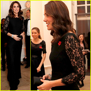Pregnant Kate Middleton Accentuates Tiny Baby Bump in Form-Fitting Dress at Gala Dinner