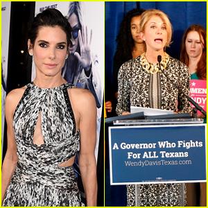 Sandra Bullock to Play Senator Wendy Davis in New Movie 'Let Her Speak'!