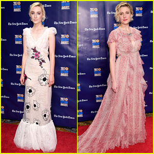 Lady Bird's Saoirse Ronan & Greta Gerwig Step Out at Gotham Awards 2017