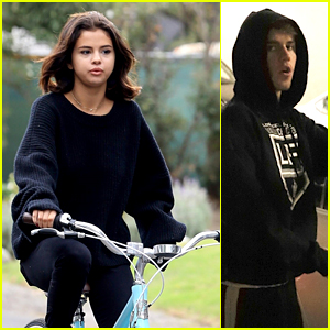 Selena Gomez Goes for a Morning Bike Ride Before Justin Bieber Comes Over Again!