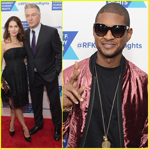 Alec Baldwin & Wife Hilaria Join Usher at Ripple of Hope Awards Dinner