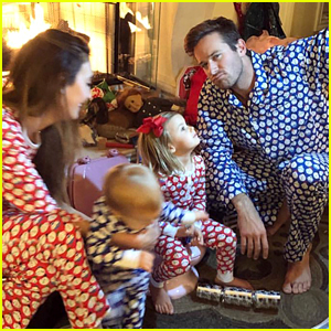 Armie Hammer's Kids Look Like They Had a Great Christmas!