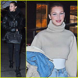 Bella Hadid Steps Back Into The 90s With Denim Outfit
