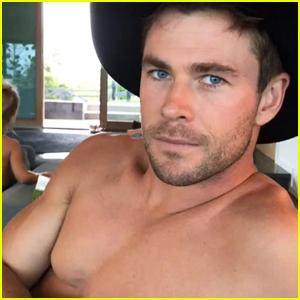 Chris Hemsworth Shares Shirtless Christmas Video - Watch Now!