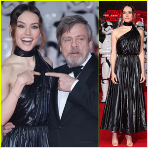 Daisy Ridley & Mark Hamill Premiere 'Star Wars: The Last Jedi' in London!