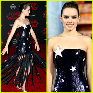 Star Wars' Daisy Ridley Is Covered in Stars at 'Last Jedi' L.A. Premiere!