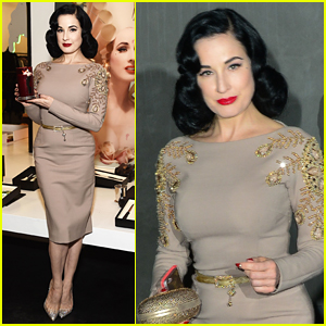 Dita Von Teese Launches New 'Scandalwood' Fragrance in LA
