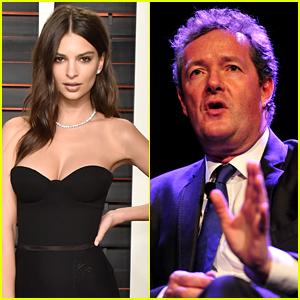 Emily Ratajkowski Fires Back at Piers Morgan After He Calls Her a 'Global Bimbo'