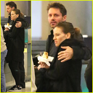 Hilary Swank & Boyfriend Philip Schneider Catch Flight Out of LAX!