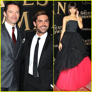 Hugh Jackman, Zac Efron, & Zendaya Premiere 'The Greatest Showman' in NYC