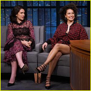 Ilana Glazer & Abbi Jacobson Tell Seth Meyers That Sexual Photo Shoots Inspired 'Broad City' Season Finale!