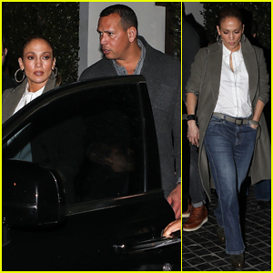 Jennifer Lopez & Alex Rodriguez Take Kids Out for Family Dinner in WeHo!