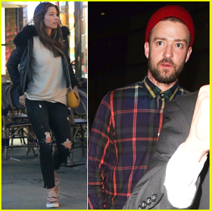 Justin Timberlake & Jessica Biel Step Out Separately in LA