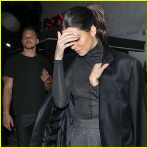 Kendall Jenner Wears Blake Griffin's Coat After His Stand-Up Comedy Show