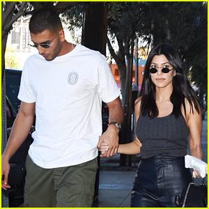 Kourtney Kardashian & Boyfriend Younes Bendjima Hold Hands After a Lunch Date!