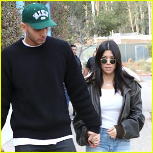 Kourtney Kardashian & Boyfriend Younes Bendjima Hold Hands on Lunch Date