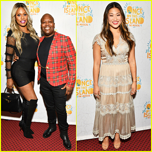 Laverne Cox & Tituss Burgess Buddy Up at 'Once On This Island' Broadway Opening Night!