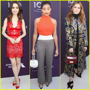 Lily Collins, Amandla Stenberg & Zoey Deutch Step Out at THR's Women in Entertainment Event