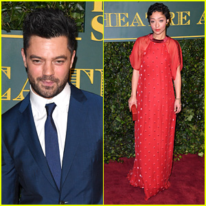 Dominic Cooper & Ruth Negga Hit the Red Carpet at London Evening Standard Theatre Awards 2017