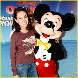Mila Kunis Is All Smiles With Her Pal Mickey Mouse at Disney on Ice!