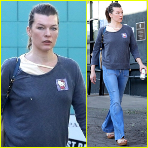 Milla Jovovich Treats Herself to a Spa Day in WeHo