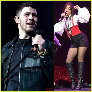 Nick Jonas & Camila Cabello Hit the Stage at 93.3 FLZ's Jingle Ball 2017!