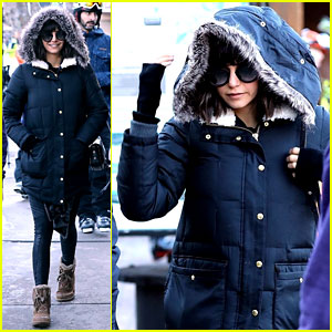 Nina Dobrev Stays Warm While Stepping Out in Aspen