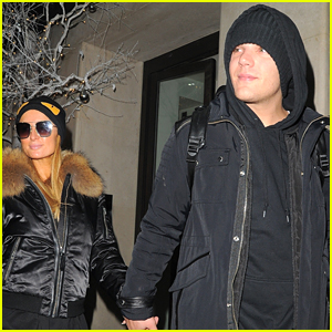 Paris Hilton & Boyfriend Chris Zylka Bundle Up in London