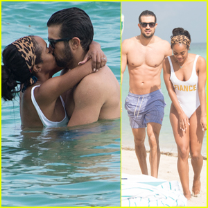 soulmate - Rachel Lindsay & Bryan Abasolo - FAN Forum - Discussion - #6 - Page 36 Rachel-lindsay-fiance-bryan-abasolo-pack-on-the-pda-in-miami