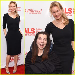 Renee Zellweger Supports Friend Nanci Ryder at Champions for Care & a Cure Event