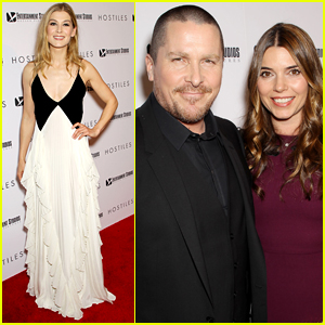 Rosamund Pike & Christian Bale Premiere 'Hostiles' in NYC