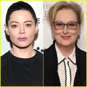 Rose McGowan Slams Meryl Streep & Other Actresses' Plans to Wear Black at Golden Globes