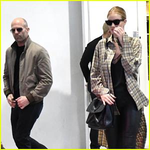 Rosie Huntington-Whiteley & Jason Statham Go Shopping in Beverly Hills