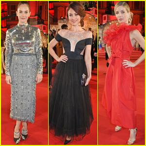 Ruth Wilson, Olga Kurylenko & Annabelle Wallis Get Glam at Fashion Awards 2017